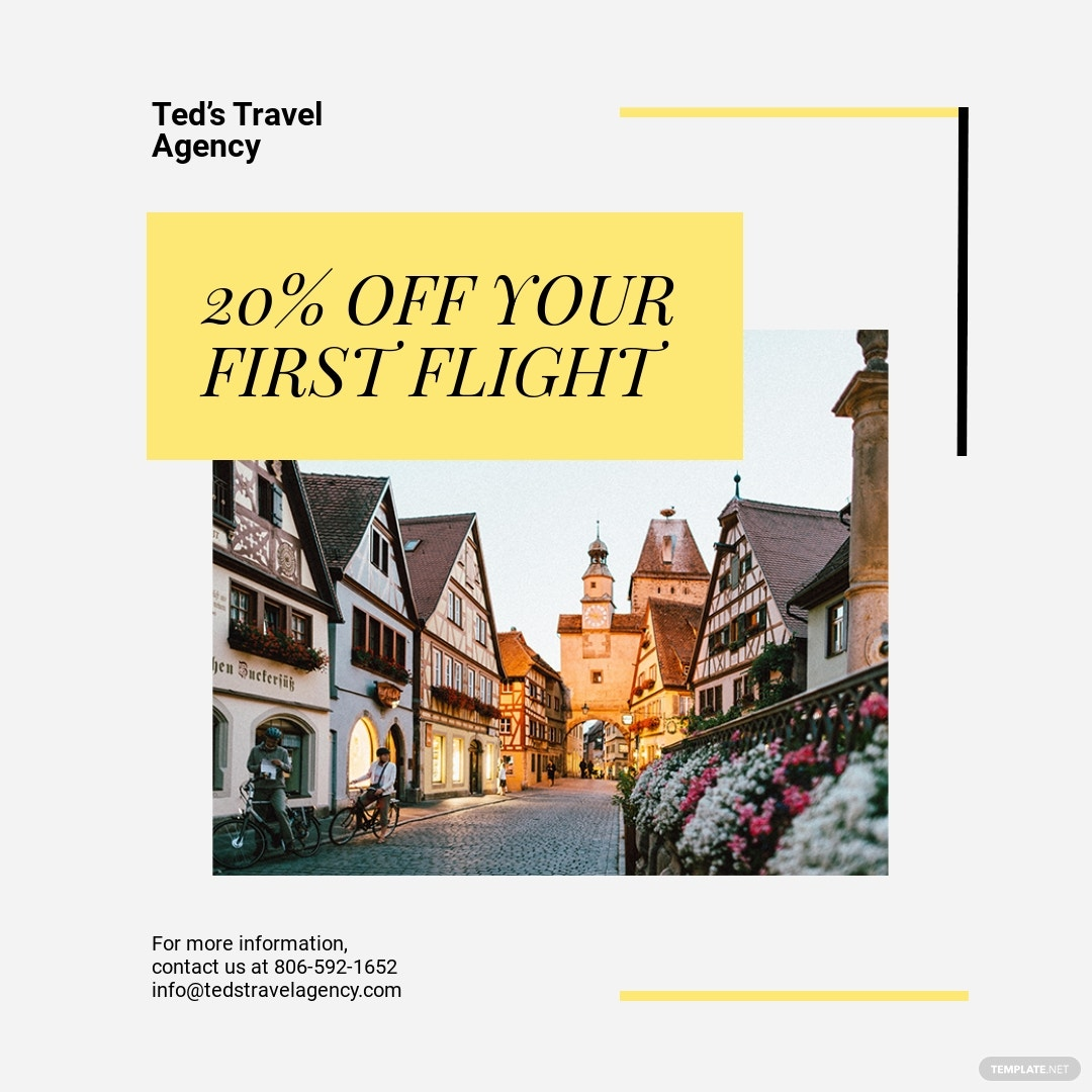Travel & Tourism Instagram Post Template [Free JPG] - PSD