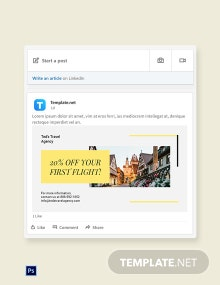 Free Travel & Tourism LinkedIn Blog Post Template