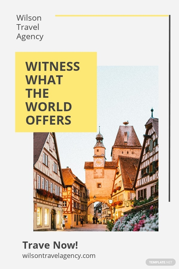 Travel & Tourism Pinterest Pin Template