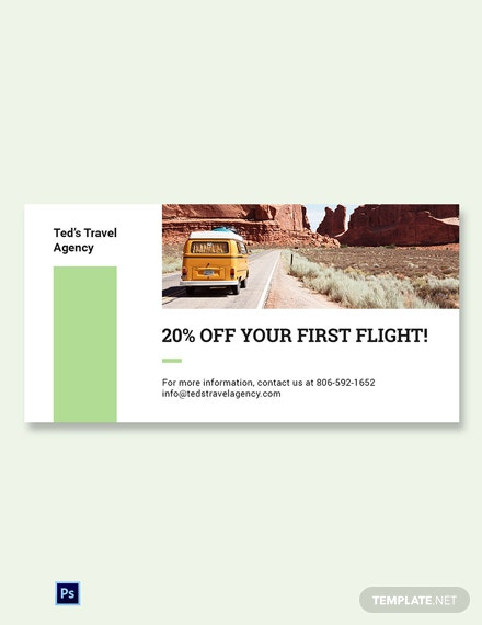 Free Travel Agency Blog Image Template