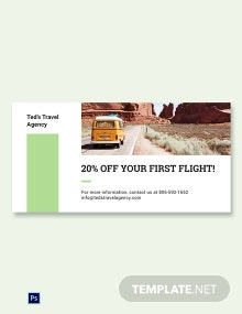 Travel Agency Blog Image Template