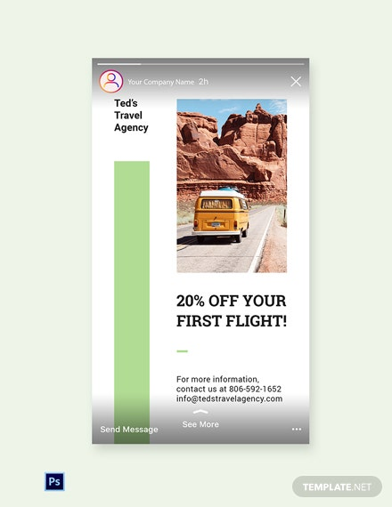 Free Travel Agency Instagram Story Template