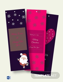 Free Xmas Blank Bookmark Template