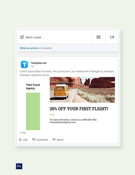 Free Travel Agency LinkedIn Blog Post Template