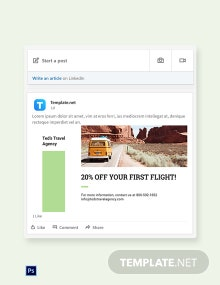 Travel Agency LinkedIn Blog Post Template