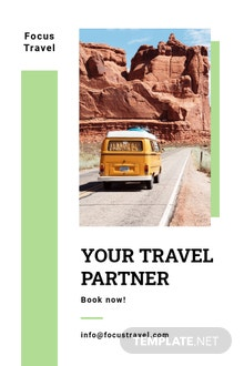 Free Travel Agency Pinterest Pin Template