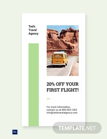 Free Travel Agency Whatsapp Image Template