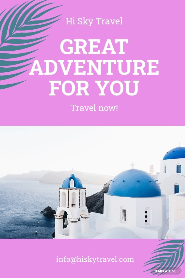 Free Minimal Travel Pinterest Pin Template