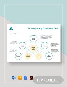 Technology Startup Organizational Chart Template