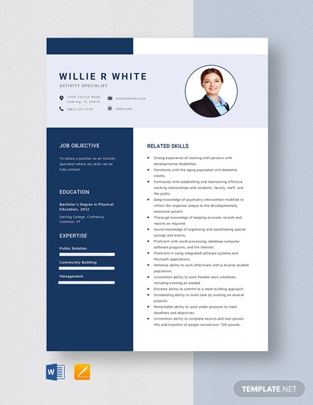 72+ Specialist Resume Templates in Word, Apple Pages ...