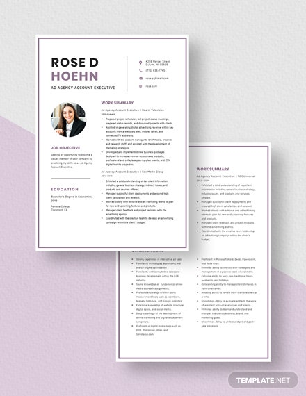 Ad Agency Account Executive Resume Download