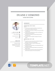 AS400 Developer Resume Template