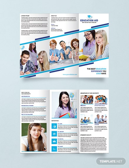 Education Tri-Fold Brochure Template