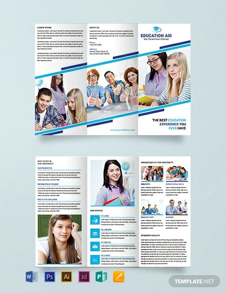 Free Education Tri-Fold Brochure Template