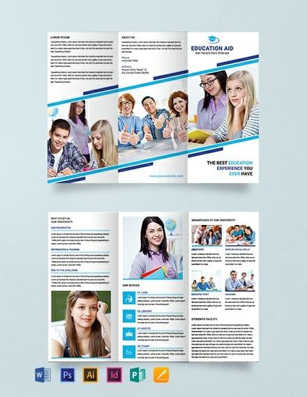 15  free educational brochure templates