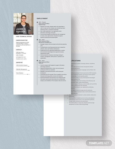 Chief Technical Officer Resume Download