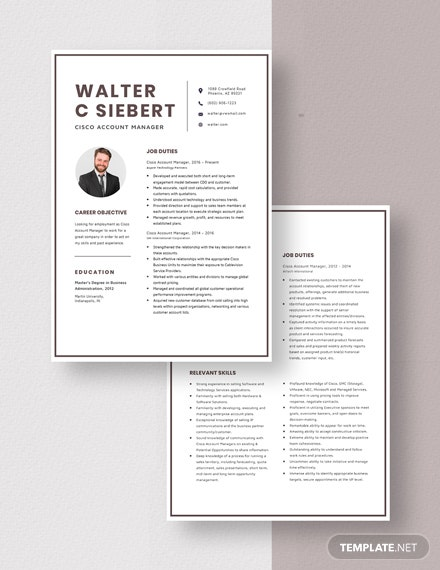 Cisco Account Manager Resume Download