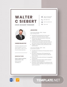 Cisco Account Manager Resume Template