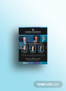 Free Business Conference Flyer Template