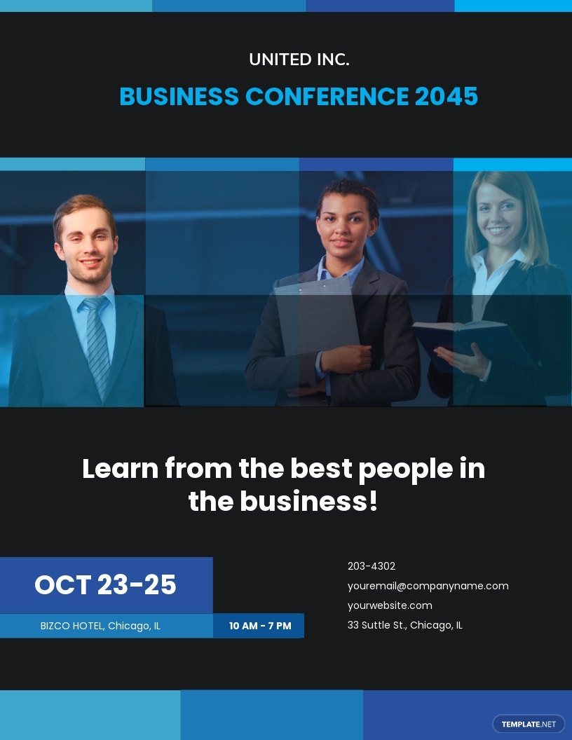 Free Business Conference Flyer Template.jpe