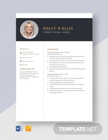 Correctional Nurse Resume Template
