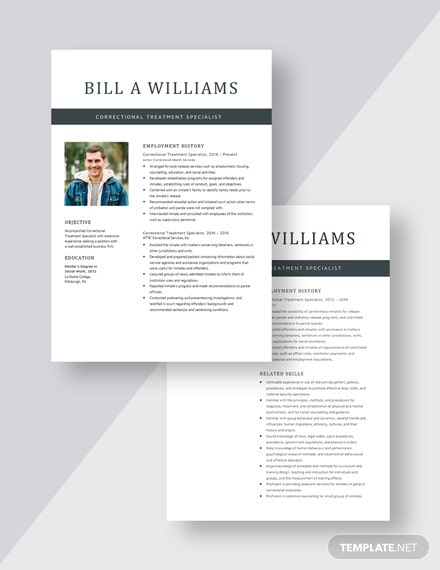 Correctional Treatment Specialist Resume Download