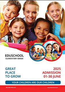 elementary school education bi fold brochure template