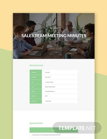 Sample Sales Team Meeting Minutes Template