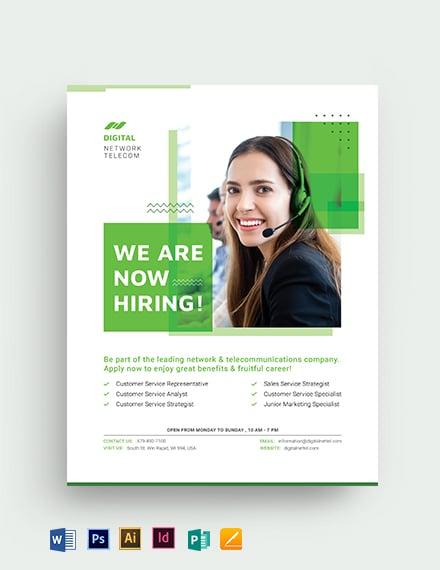 Creative Recruitment Flyer Template