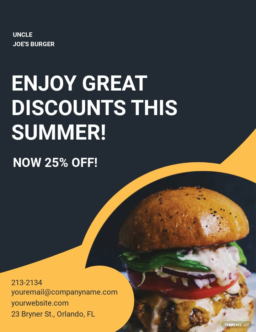 Double Sided Fast Food Burger Flyer Template.jpe