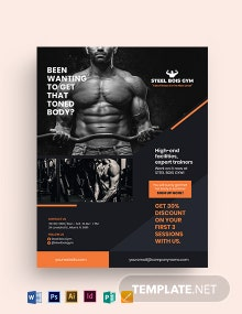 Fitness Gym Business Promotion Flyer Template