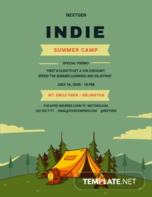 Indie Summer Camp Flyer Template