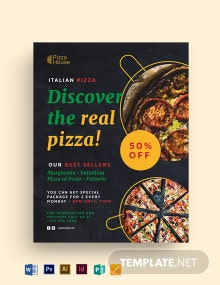 Italian Pizza Flyer Template