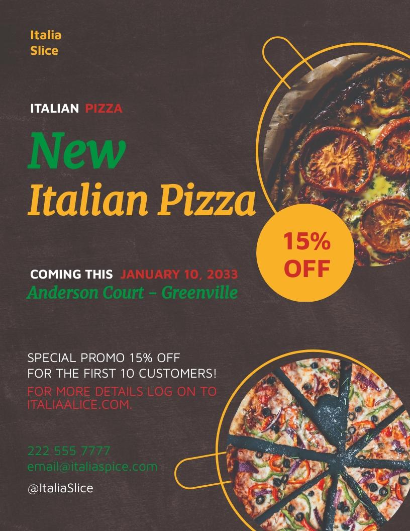 Italian Pizza Flyer Template