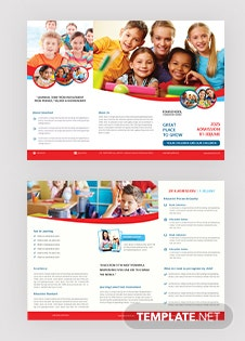 elementary school tri fold brochure template