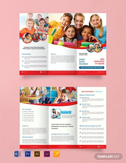 24 Free Educational Brochure Templates Download Ready Made