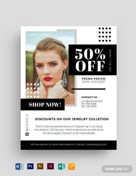 Jewelry Product Promotion Flyer Template