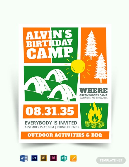 Kid Birthday Event Flyer Template