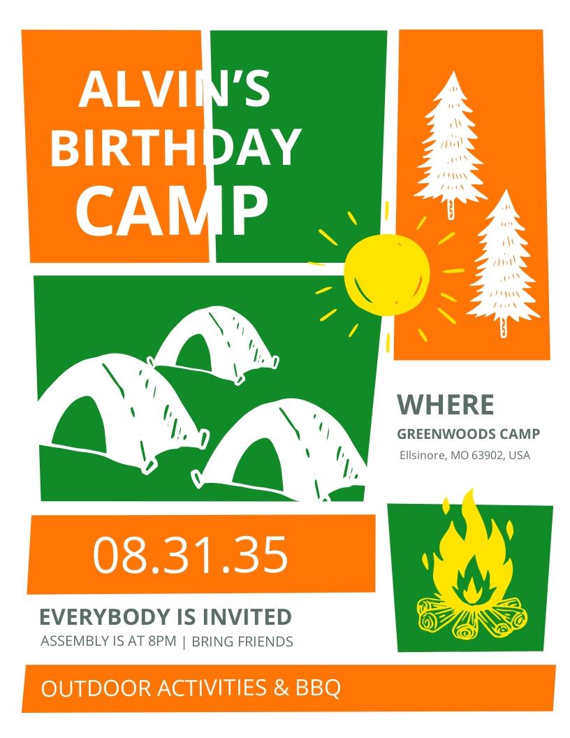 Kid Birthday Event Flyer Template