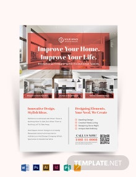 Kitchen Interior Flyer Template