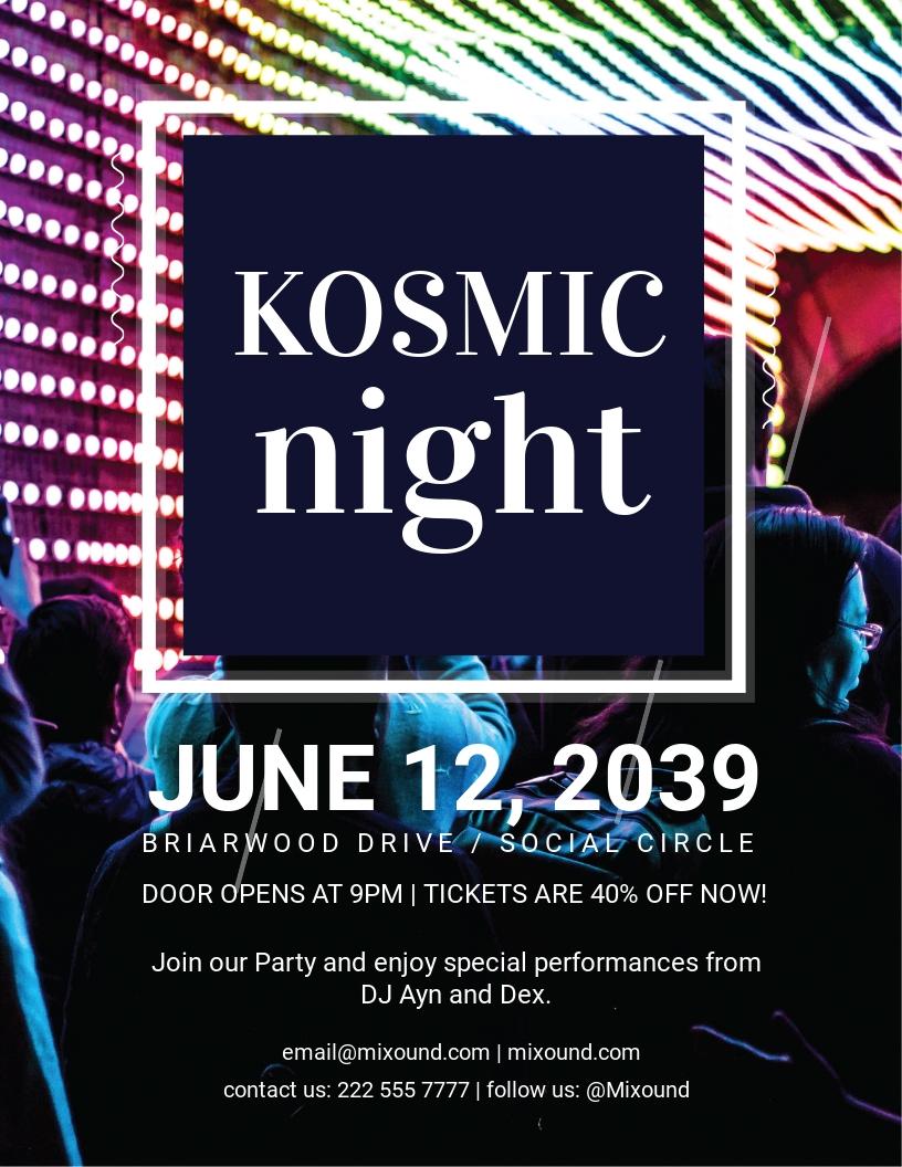 Kosmo DJ Flyer Template