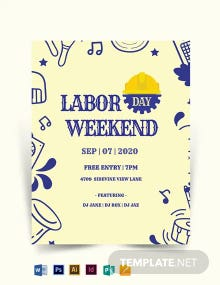 Labor Day weekend Template