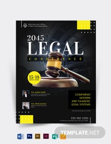 Legal Conference Flyer Template
