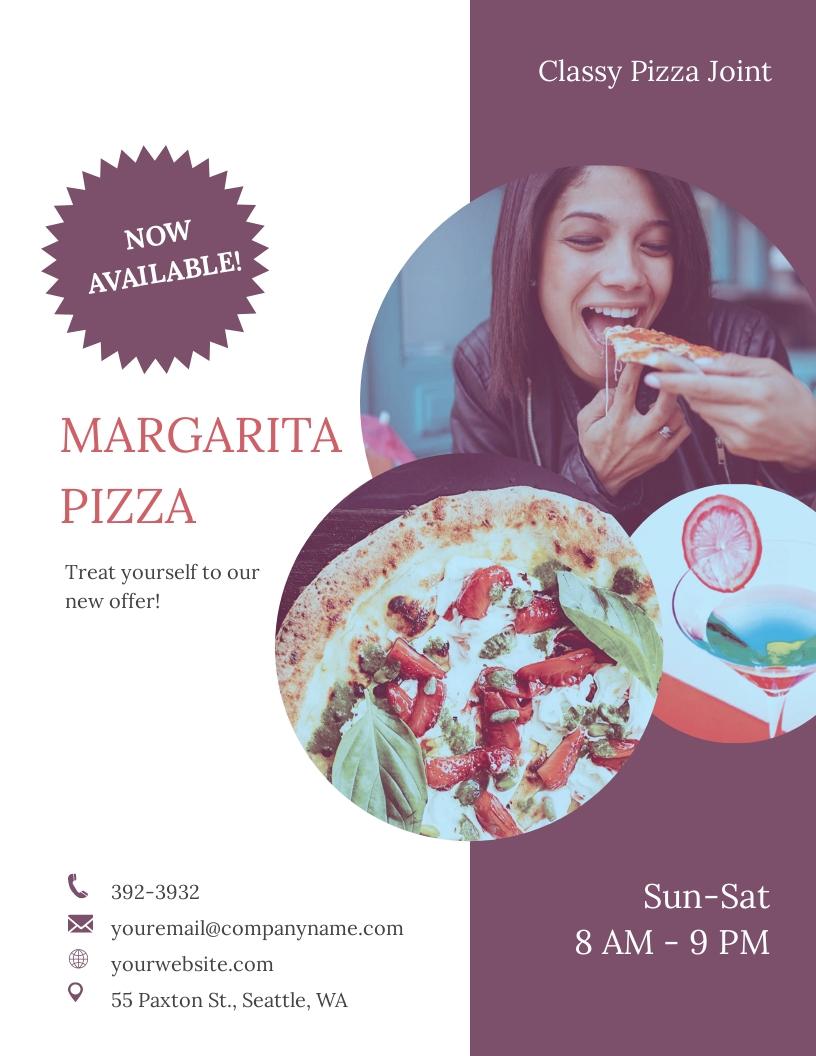 Margarita pizza Flyer Template