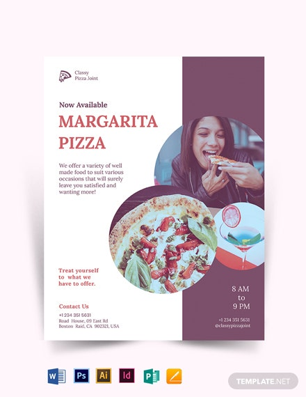 Margarita pizza Flyer Template