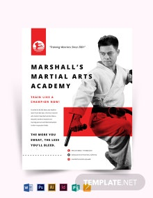 Martial Arts school Flyer Template
