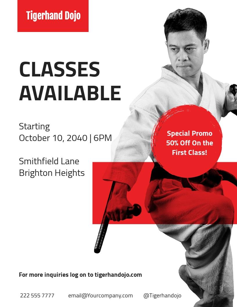 Martial Arts school Flyer Template