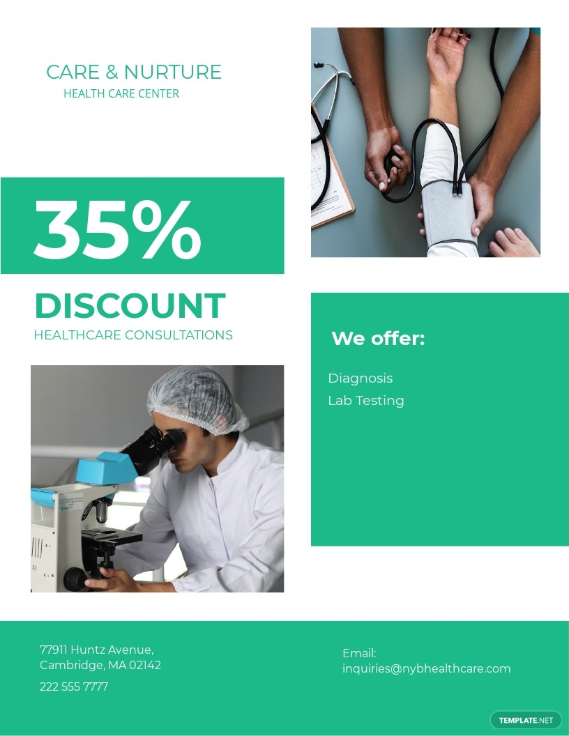 Medical Health Flyer Template