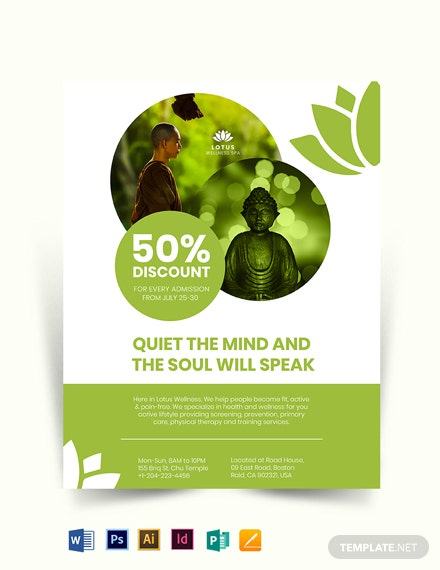 Meditation and Healing SPA Flyer Template