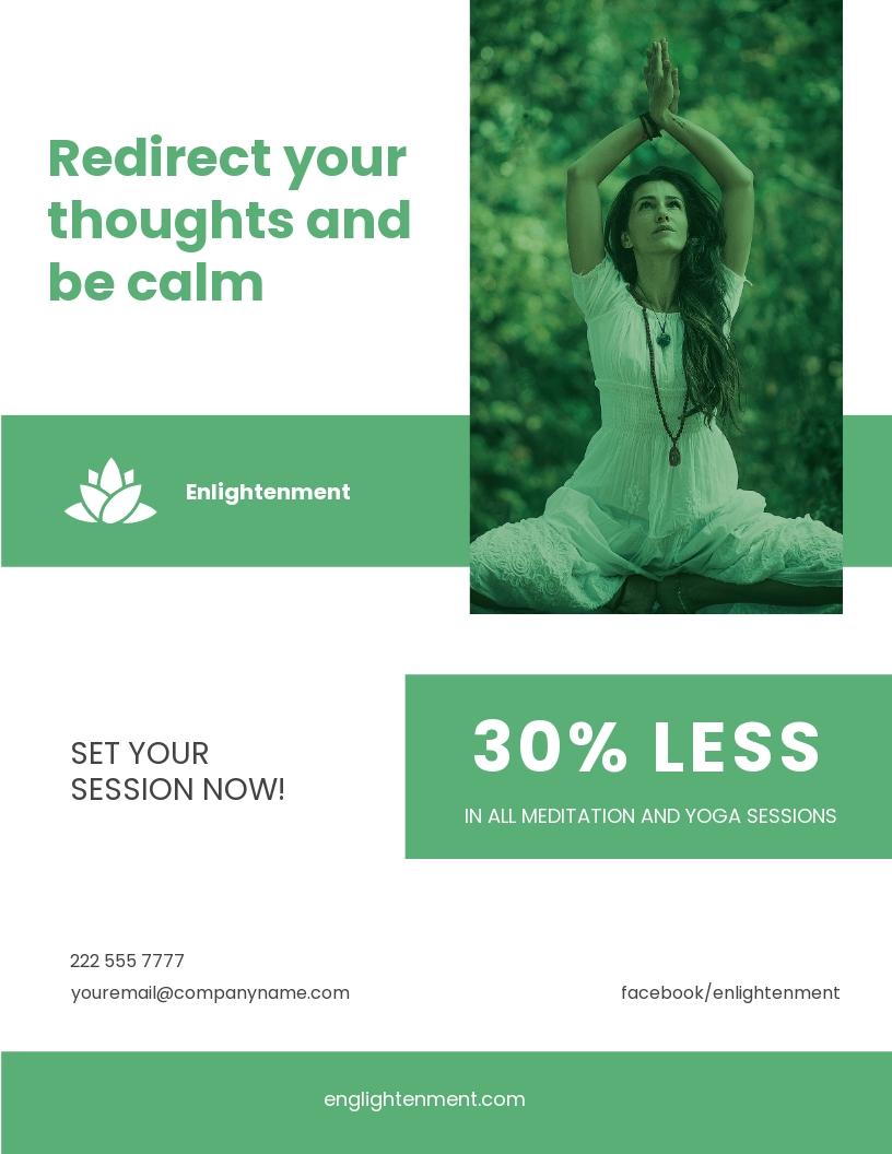Meditation and Yoga Flyer Template
